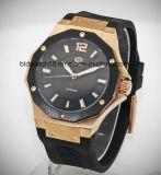 Таможня резвится люди wristwatch goldtone кожаный полосы автоматические