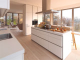 Mobilia unica della cucina/alto armadio da cucina di lucentezza portello di legno della lacca