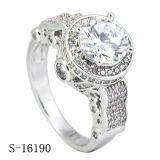 Hotsale 925 은 Micropave CZ는 공상 숙녀 반지를 둥글게 된다