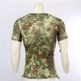 Uomo della maglietta dell'Rapido-Essiccamento del camuffamento della camicia di estate di Esdy