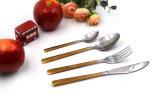 Половинный комплект Cutlery покрытия 4PCS цвета PVD золотистый