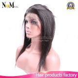 cabelo humano do Virgin reto brasileiro da classe 7A completamente Frontal de 360 laços