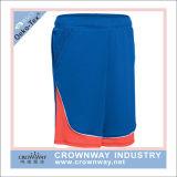Cortocircuitos del fútbol de los hombres con la pieza inserta de la tela del contraste