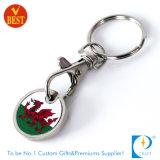 Het douane Afgedrukte Symbolische Muntstuk Keychain van het Karretje van de Sticker