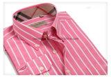 Camisa rayada de Cutton de los hombres tricolores