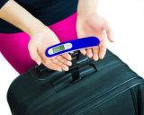 Digitas portáteis que penduram pesando a escala 50kg da bagagem