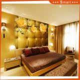 Peinture à l'huile d'or imperméable à l'eau de la salle de séjour 3D de fond du luxe TV