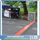 Protector al aire libre plástico de la rampa del cable de los acontecimientos de la PU de los canales de Rk 3