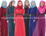 Fashion Woman Abayavoile Dress for Woman Vêtement islamique
