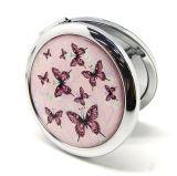 個人化されたかわいい蝶パターン円形のコンパクトなミラーHx-6989