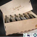 Коробка подарка упаковки вина высокого качества деревянная