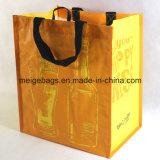Сплетенный PP мешок Tote бутылки вина, с 6 отсеками внутрь