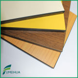 El panel decorativo del laminado del compacto de la hoja del grano de madera HPL de Fmh 12m m