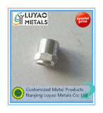 Алюминиевая подвергая механической обработке часть с по-разному резьбой