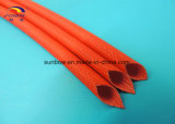 Beständige Silikon-Gummi-Fiberglas-Hochtemperaturhülse für elektrische Bauteile