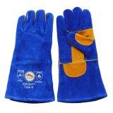 Двойные перчатки заварки руки Split кожи Cowhide ладони