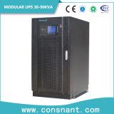 UPS em linha modular com módulo de potência 30kw 6 partes