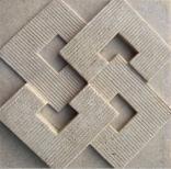 Telhas da parede das decorações do edifício do Sandstone