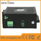 10 puertos gestionados de fibra óptica industrial switch Ethernet