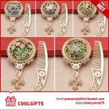 Espejo decorativo de bronce y conjunto de peine para regalo de boda promocional