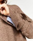 Dame Fashion Sweater met de Knoop van de Vlinder