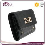 Faniは2つのカラー黒い卸し売り財布および札入れPUの革飾る