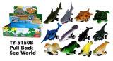 Heiße 4 ``ziehen Dinosaurier-Spielzeug zurück