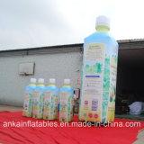 Diseño vivo y botella inflable portable del PVC de la bebida para el anuncio