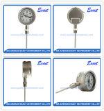 Tutto il tipo diritto bimetallo industriale - calibro del termometro dell'acciaio inossidabile di temperatura