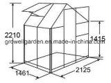 2.1m*1.5m 폴리탄산염과 Alu. 취미 온실 (HB705)