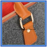 De Wol van de Vervaardiging van de fabriek voelde de Toevallige het Winkelen Zak van het Handvat, de Hete Handtas van de Carrier van de Bevordering met het Comfortabele Handvat van het Leer van Pu