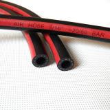 Tuyaux d'air en caoutchouc de tresse rouge résistante de fibre de l'ozone de 1/4 pouce