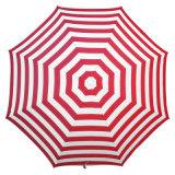 Складной красный зонтик пляжа высокого качества ткани Tc нашивки
