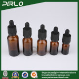 20ml 30ml 50ml 100ml Botellas de vidrio de lujo ámbar Botellas de gotero de cristal líquido E