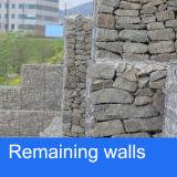 残りの壁の川Treatment/PVC上塗を施してあるGabionのバスケットのための亜鉛コーティングのGabionのバスケット