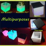 Bac de fleur de cube pour la mémoire de cube en décoration de cube en salle de séjour