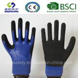 Le latex a givré des gants, les gants de travail de sûreté de fini de Sandy (SL-RS306)