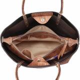 Grande sacchetto di Tote di legno delle donne di stile casuale della stampa del grano (MBNO041018)
