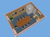 [20فت] وعاء صندوق منزل مع أحد باب اثنان نافذة