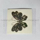 Tatuaje temporal a todo color Piel-Seguro modificado para requisitos particulares, tatuaje del diseño de la mariposa
