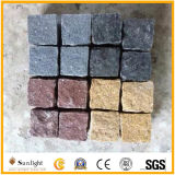 (100X100X50mm) Black Basalt Rock / Natural Split Surface Granito Pavimentação Stone Cobble Stone