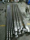 Transportador de tornillo flexible del gránulo del polvo con la tolva del acero inoxidable