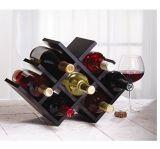 Cremagliera pieghevole del vino del vino della farfalla della cremagliera delle bottiglie di legno della stretta 8