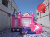 Princesa inflable saltando castillo con diapositivas combo juguete patio de recreo (T3-710)