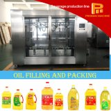 Botella 2L, 5L, 20L del aceite de mesa y máquina de relleno y que capsula del barril
