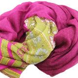 Echarpe femme imprimée imprimée 100% mousseline en mousseline de soie (AMA170609-6)