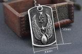 De Juwelen van de Halsband van het Roestvrij staal van het Titanium van de Tegenhanger van het Schild van de Vleugels van de Mensen van de manier