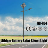 Solarstraßenlaternemit 12V 36W LED Lithium-Batterie