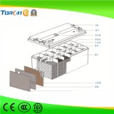 tipo bateria solar do gel 150ah de 12V para UPS, central eléctrica, sistema do agregado familiar