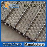 Bande de conveyeur conventionnelle d'armure pour les biscuits de traitement au four/la courroie de treillis métallique de traitement thermique